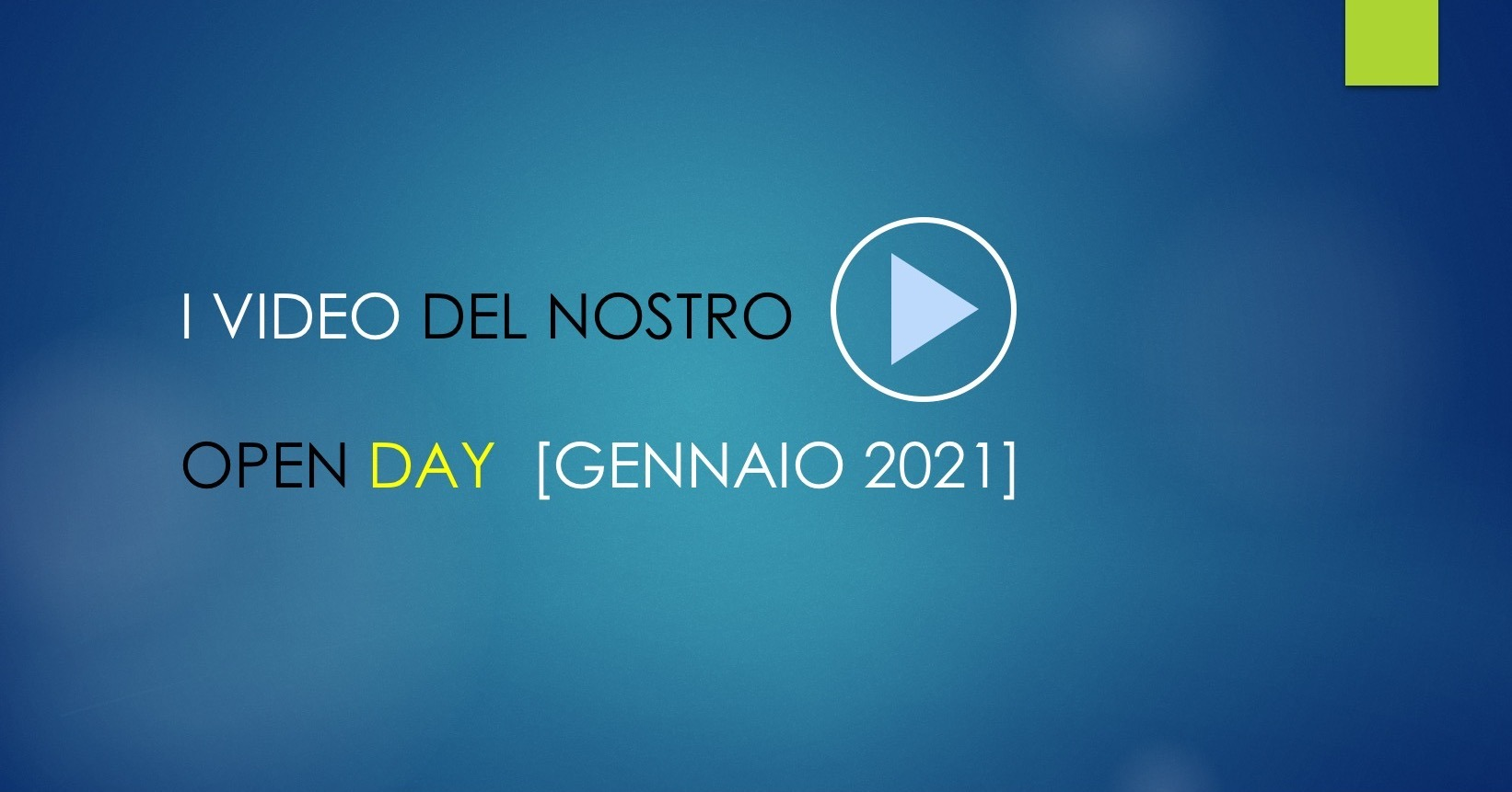 VIDEO OPENDAY 2021